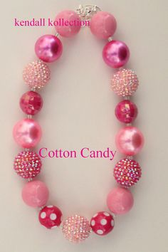 Hey, I found this really awesome Etsy listing at https://www.etsy.com/listing/153195241/cotton-candy-chunky-beaded-necklace-for