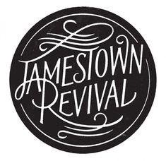 Jamestown Revival logo by Simon Walker. Good graphic, even better band. Design Retro, Font Design, Vintage Design, Lettering Design, Branding Design, Ad Design, Layout Design, Design Logos, Vintage Type