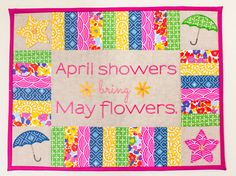 Embroidery- April Showers Wallhanging