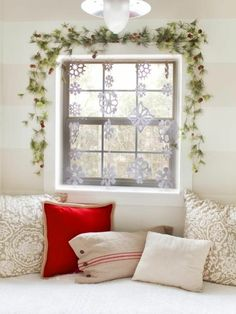 Craft ideas for window Christmas decoration festive