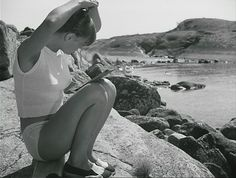"""emotionography-astral: """"Harriet Andersson Summer with Monika Ingmar Bergman 1953 """" Harriet Andersson, Ingmar Bergman, Film Director, Film Photography, Cinematography, Summer Vibes, Vacation, Black And White, Movies"""