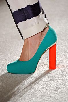 Roksanda Ilincic bold color block heels