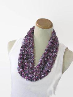Spring Scarf Hand Knit Scarf Knit Cowl Fashion by ArlenesBoutique