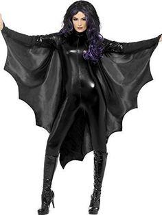 Nero Da Donna Pipistrello Vampiro Ali Costume Halloween Outfit Accessorio