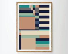 Abstract print poster, mid century print poster, retro print poster, geometric print poster, poster, posters