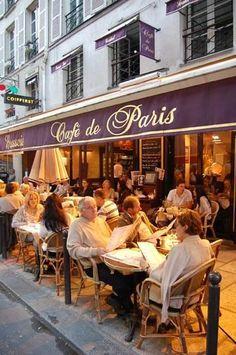 café de paris, where you'll find me! Restaurant Paris, Paris Restaurants, Paris Travel, France Travel, Travel City, Paris Tour, Sidewalk Cafe, Cafe Bistro, French Cafe