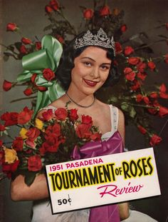 Eleanor Payne on the cover of the 1951 Pasadena Tournament of Roses Review.
