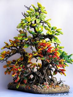 Creative Floral Compositions by Oksana Konovalova. Amazingly gorgeous beaded creations! Check out the whole page for more.