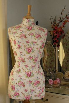 made using Cath Kidston fabric #mannequin #cathkidston #dressform
