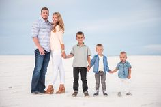 Family photo at the Salt Flats. Salt Lake City, Ut.  @Andrea Johnson-Law  - look what I found floating around Pinterest!  Beautiful family!!!