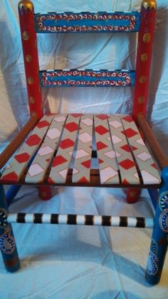Whimsical Hand Painted ChildSized Chair  FREE by SunFireGalleries, $125.00 - MY NEW PIECE!