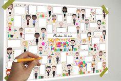 Affiche Numérique Anniversaire - 40 bulles - livre d'or anniversaire - à télécharger et à imprimer : Affiches, illustrations, posters par affiche-rgb4you