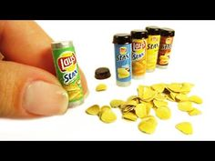 DIY Miniature Lay's Stax Chips No Polymer Clay - YouTube