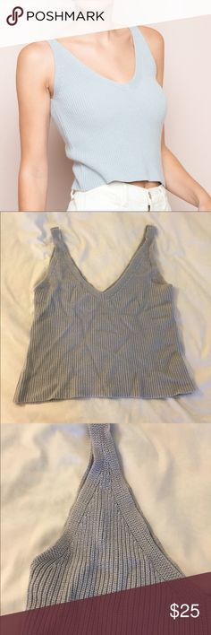 Brandy Melville Daniella Knit Top I'm good worn condition! No flaws Brandy Melville Tops