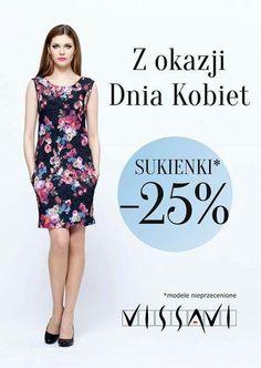 Drogie Panie, z okazji Dnia Kobiet, #VISSAVI,  najbardziej kobieca marka jaką znamy, świętuje trzy dni! Do niedzieli cenę sukienek z nowej kolekcji obniżamy o 25%!