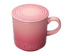 【Le Creuset マグカップ(フタ付き)】茶葉をムラしたり、お茶菓子を載せたりするのに使えるフタがついたマグカップ。