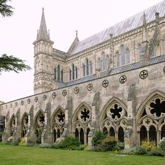 "Salisbury Cathedral - the ""finished"" Cathedral at the end of ""Pillars of the Earth"". Simply breathtaking!"