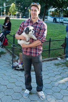 Ryan McDonagh at the Rangers Dog Walk