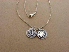 Sterling Silver Leo Zodiac Sign Necklace