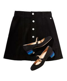 Why a Mod Mini Skirt and Mary Janes Will Be Your Go-To Fall Outfit from InStyle.com
