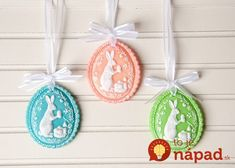Springerle Easter Egg Ornaments using Cold Porcelain Clay Custom Cookie Cutters, Custom Cookies, Porcelain Clay, Cold Porcelain, Springerle Cookies, Homemade Slime, Paperclay, Party Items, How To Make Ornaments