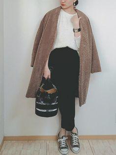 おはようございます☀️ 今日もボアコート♡ むちゃ暖かい〜〜♡ お気に入りすぎて、何回も着るよ
