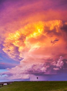 """""""July 5, 2014 near Steele, ND - just east of Bismarck along I-94. Spectacular looking storm at sunset!"""""""