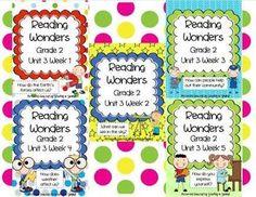 Reading Wonders Resources, Grade 2, Unit 3 Bundle
