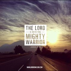 Judges 6:12. He called Gideon a mighty warrior because He was terrified on his own, but with Christ: he could be made strong :)