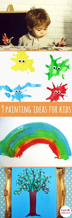 Time to get creative - and messy - with these fun painting ideas for children. From paint blowing to marble rolling, your kids will love creating their masterpieces. Rainy Day Activities, Activities To Do, Summer Activities, Top Paintings, Boredom Busters, Painting For Kids, Rainy Days, Your Child, Crafts For Kids