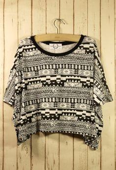 #Chicwish  Aztec Print T-shirt