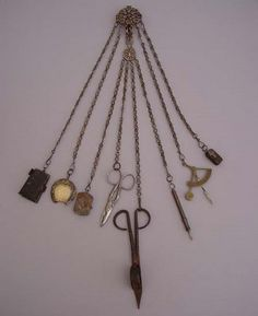Chatelaine Jewelry/sewing kit for the housekeeper