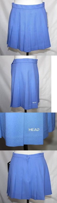 Skirts 175791: True Vintage 70S Head - Nwt - M (12) -Solid Periwinkle Blue Pleated Tennis Skirt -> BUY IT NOW ONLY: $69.99 on eBay!