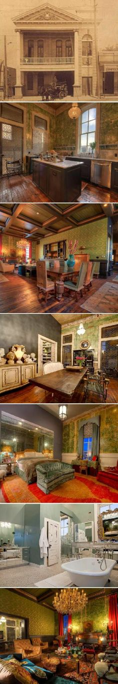 Former 1890's Austin, Texas firehouse (Hook and Ladder No. 3) converted to a palatial 8,000 sq. ft. single-family home | Shared by LION