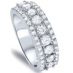 11 Best Wide Diamond Wedding Bands Images Gemstones Jewelry Rings