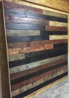 This sharp looking headboard was custom made for a platform bed. Dimensions are 77 3/4Wx80Hx2 1/2D but can be made to fit your needs. The combination of plain wood along with natural cherry, dark waln