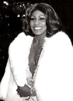Tina Turner at the Tommy premiere, 1975.