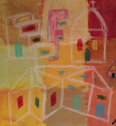"""Arkitekt F"" ""Architect F"" Copyright by www.anne-mette.com  #art #modernart #painting #maleri #artgallery #walldecor #F #huse #arkitekt #architecte #email #kunst@anne-mette.com"
