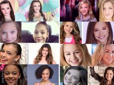 Dance Moms girls. Then and now. *Left then-Right now