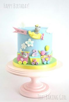 Hippo cake by That Baking Girl