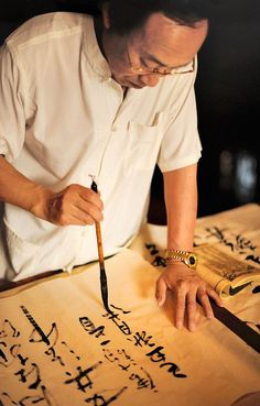 A calligrapher in Beijing.
