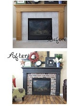Fireplace redo.  This blgger is my idol!!!