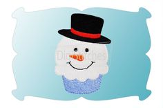 Snowman Cupcake Minis feature embroidery fill stitches and we've also included a mini applique design. Perfect for napkins, button covers, infant bodysuits, doll shirts, merged designs and more!