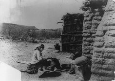 A Tohono O'odham camp. No date or photographer noted.