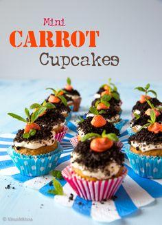 Vaikka porkkanakakku (carrot cake) mielletään amerikkalaiseksi klassikoksi, on se todellisuudessa eurooppalaista alkuperää. Cupcake Toppers, Cupcakes, Party, Desserts, Easter, Drinks, Food, Tailgate Desserts, Drinking