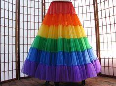 Rainbow petticoat!
