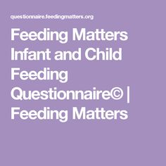 Feeding Matters Infa