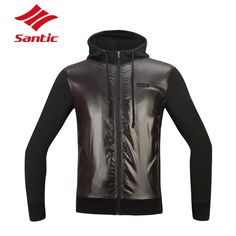59.99$  Buy now - http://ali57w.worldwells.pw/go.php?t=32747806525 - Santic Windproof Winter Cycling Jacket Breathable Thermal Fleece Bicycle Jacket Long Sleeve Bike Jersey Coat with Pockets Men 59.99$