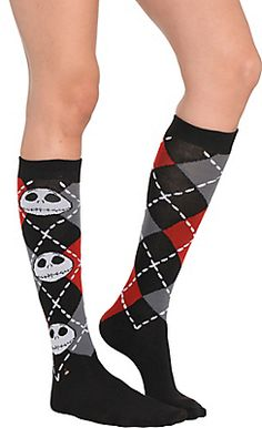 Jack Skellington Knee-High Socks - The Nightmare Before Christmas