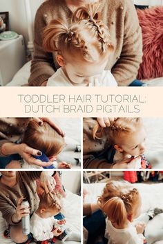 easy dutch (or inside out) braid pig tail tutorial for toddler girl& hair /. Hairstyles, easy dutch (or inside out) braid pig tail tutorial for toddler girl& hair // easy toddler hairstyles Source by Easy Toddler Hairstyles, Toddler Braids, Baby Girl Hairstyles, Toddler Girl Hair, Braids For Toddlers, Easy Little Girl Hairstyles, Cut Hairstyles, Hairdos, Hair Ideas For Toddlers